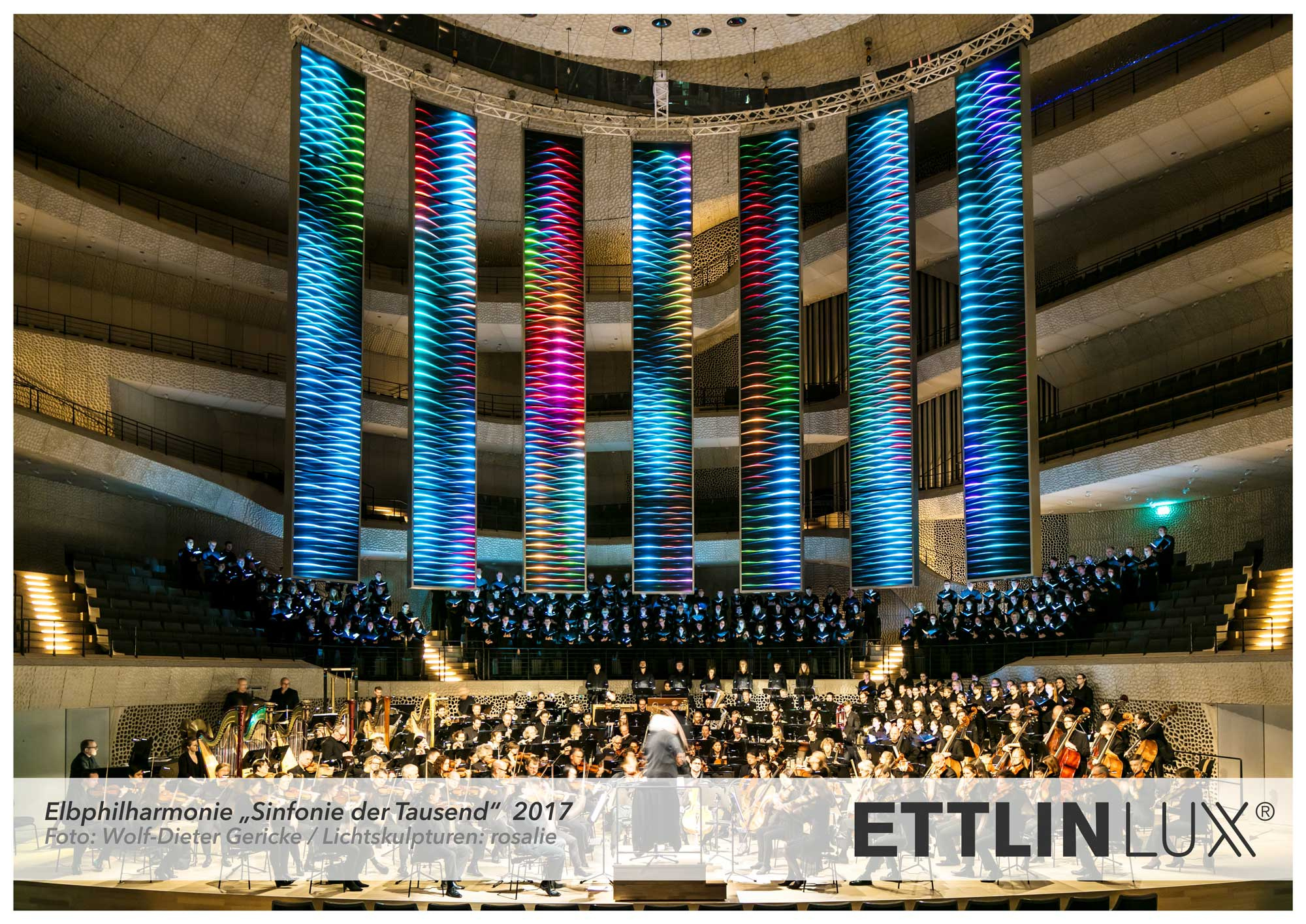 Dynamischer Lichteffekte von ETTLIN LUX in der Elbphilharmonie