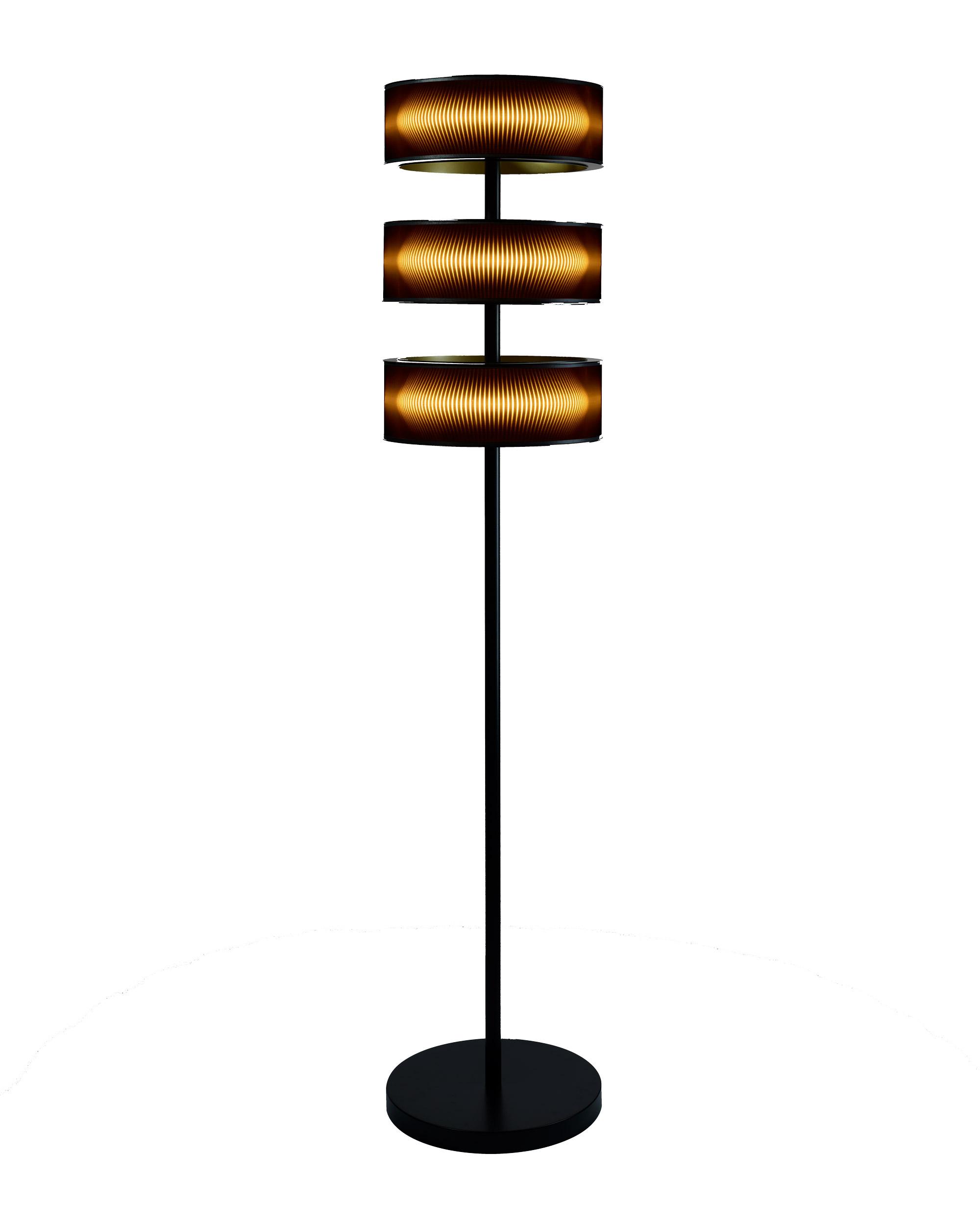 MATRIX Stehleuchte mit vierzig Zentimeter Durchmesser und 20 Watt Leistung je Ring