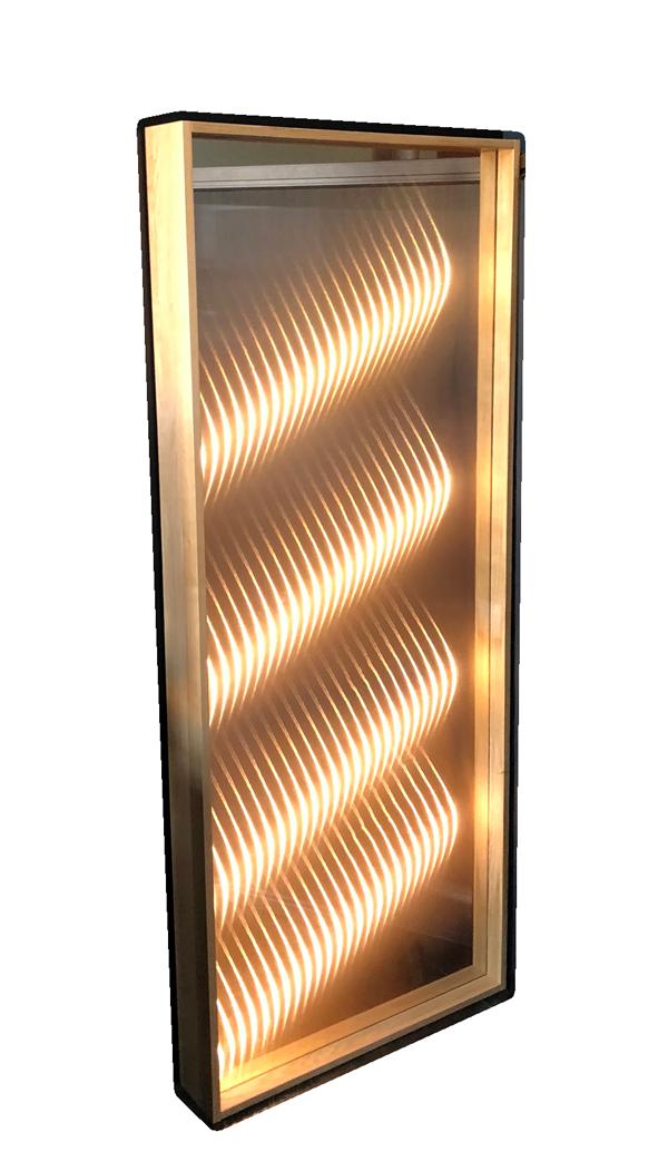 3D Lichteffekt Spiegel für das Interior