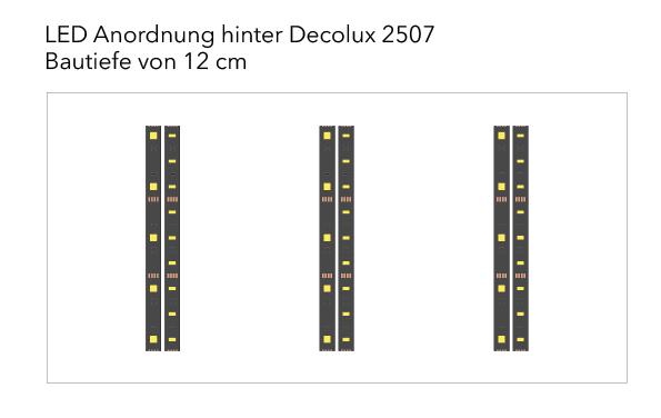 Für das Licht im Museum wurde eine LED Anordnung in Millimeterpapier-Optik gewählt