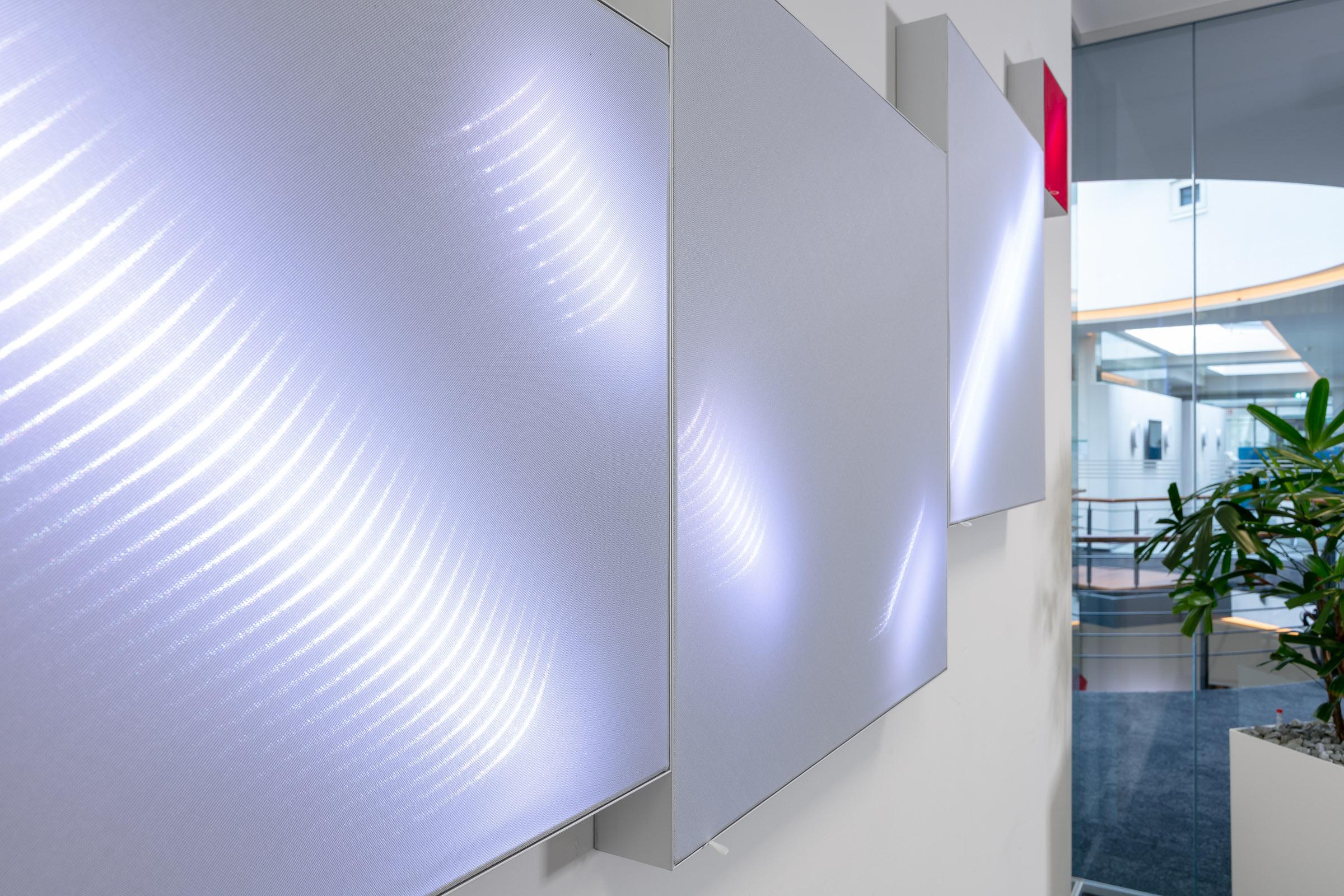 Aluspannrahmen mit Lichttechnischem Textil