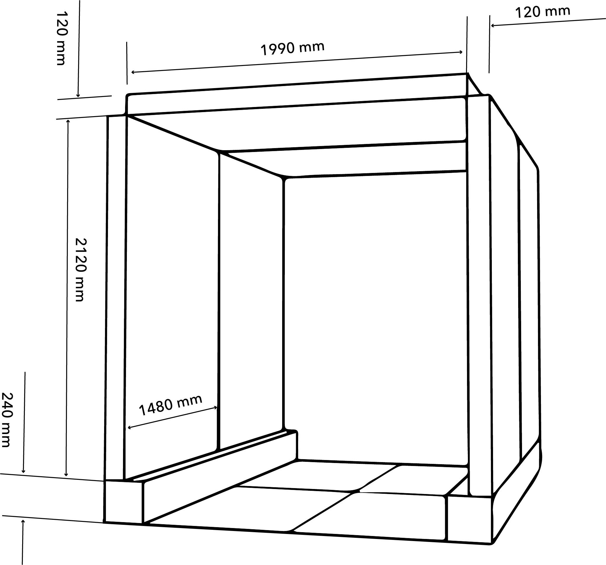 Zeichnung eines Leuchrahmen Konzepts für ein Architekturbüro