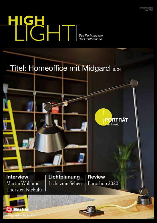Cover des Fachmagazins der Lichtbranche Highlight