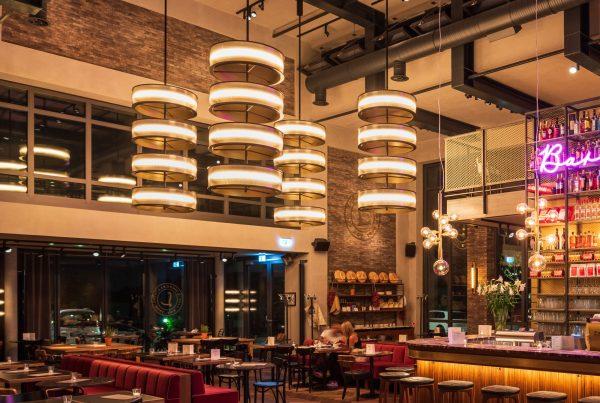 Textile Ringleuchten für die Gastronomie von L'Osteria in Dortmund
